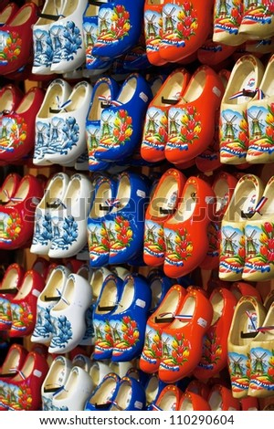 Beautifully painted dutch wooden clogs