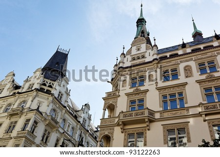 beautifully renovated houses in old town prague