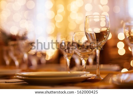 beautifully served table in a restaurant #162000425