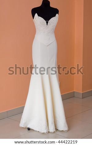beautifully sewn wedding dress