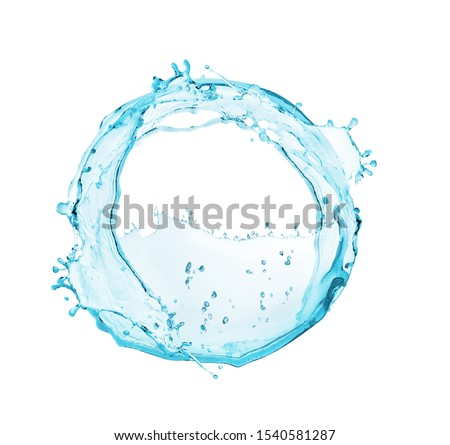 Beautifully swirling water in a circle on a white background #1540581287