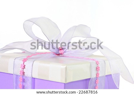 Beautifully wrapped gift.