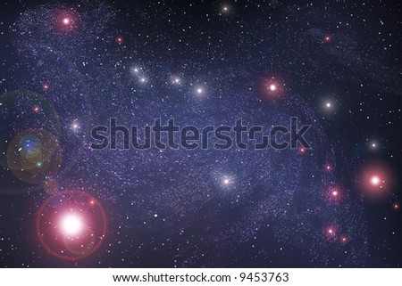 beauty abstract space background - stock photo