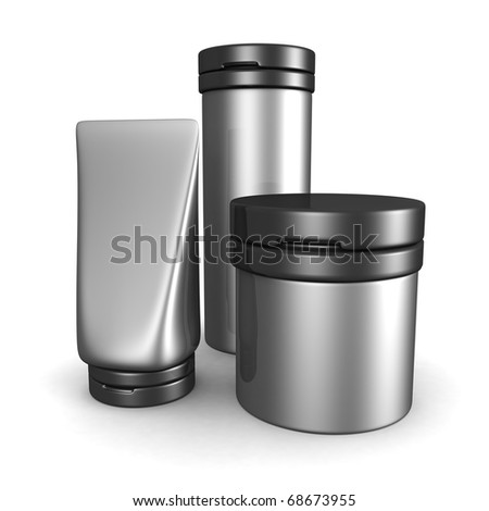 Beauty and Cosmetic Product container packaging 3d illustration