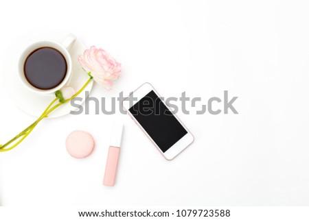 Beauty and fashion. Female desk