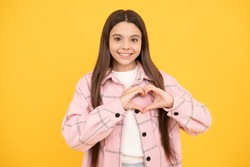 beauty and fashion. latest trend. street autumn fashion. happy teen girl in pink checkered shirt. lovely hipster kid casual style. tween child wear plaid shirt. chequered flannel jacket.