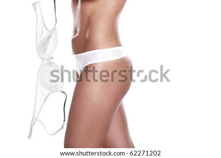Beauty and perfect female body in underwear