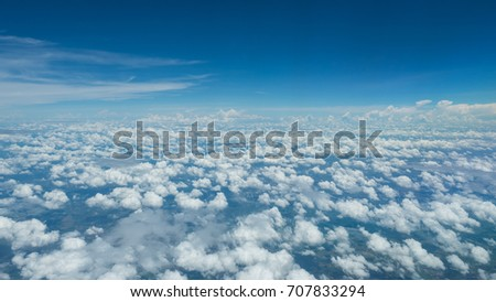 Beauty blue sky and clouds in nature at   #707833294