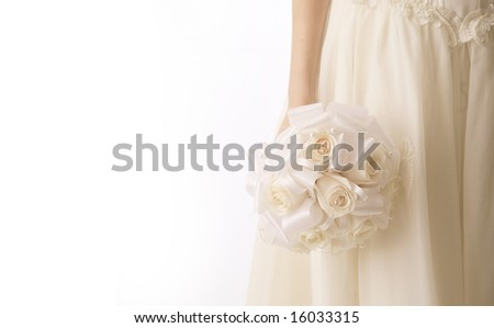 Beauty Bride with a wedding bouquet