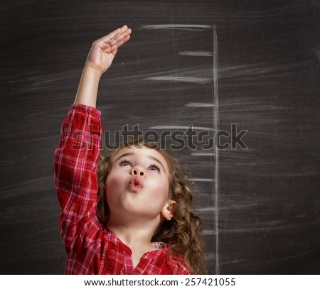 beauty child at the blackboard
