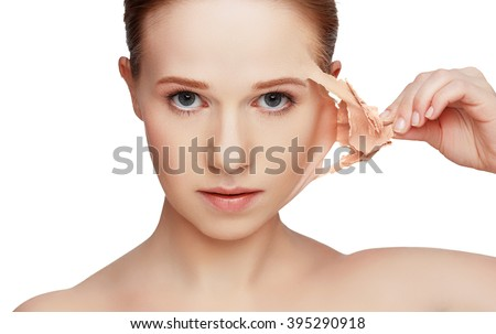 beauty concept rejuvenation, renewal, skincare and skin problems #395290918