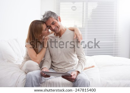 Beauty couple smiling