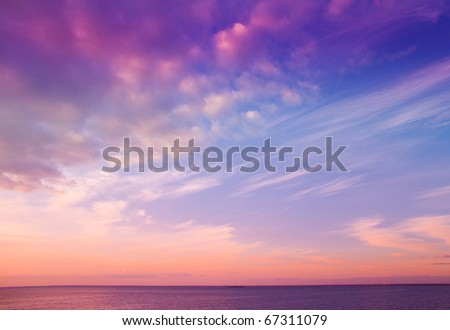 Beauty Evening Sunrise - stock photo