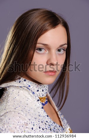 beauty face of beautiful cheerful teenager
