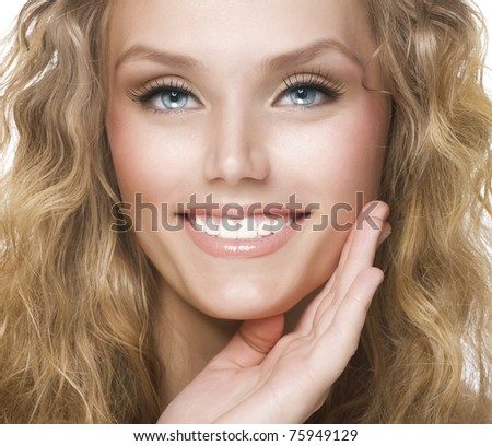 Beauty Face. Smiling Woman