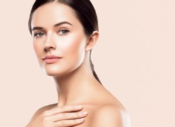Beauty face woman healthy skin cosmetic spa concept beautiful female model healthy skin care concept portrait