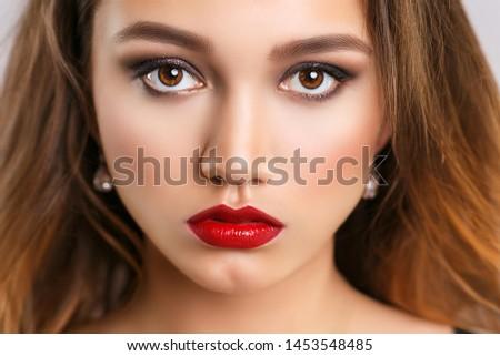 Beauty fashion model portrait makeup close-up #1453548485