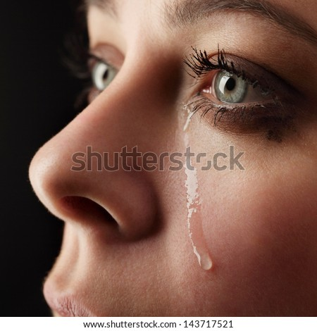 beauty girl cry Foto stock ©