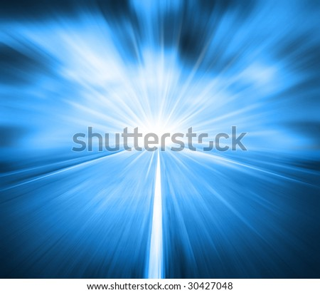 beauty high velocity on route - stock photo