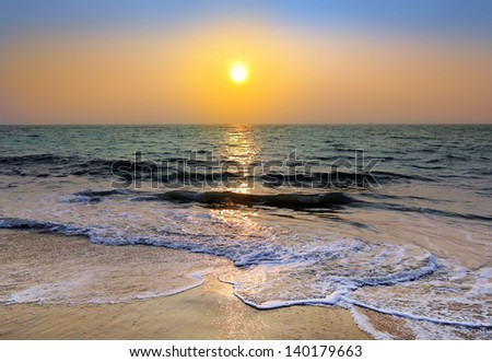 beauty landscape with sunset over sea #140179663