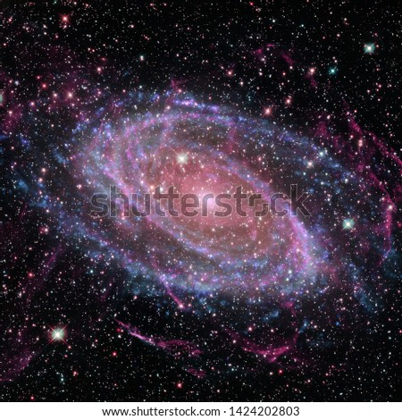 Beauty of deep space. Billions of galaxies in the universe. Elements of this image furnished by NASA