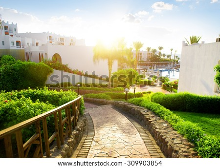 Beauty of egyptian hotel in the morning #309903854