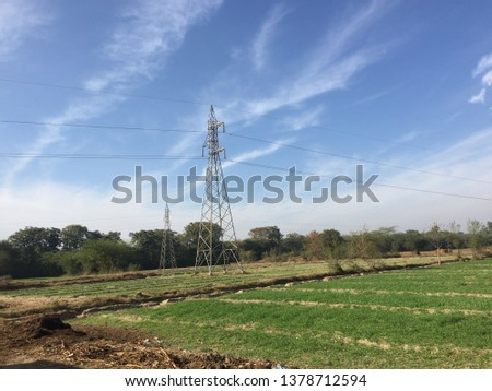 Beauty of fields rural areas  #1378712594