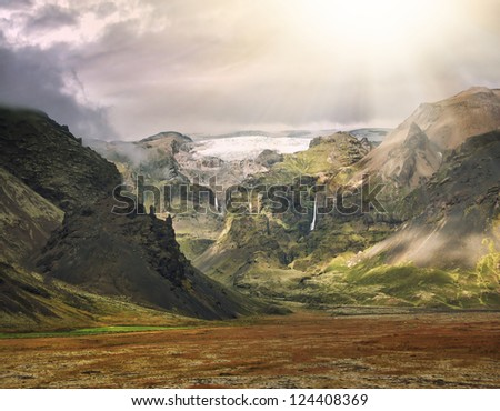beauty of iceland island, dramatic landscape