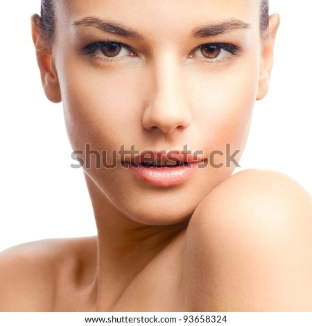 Beauty photo of an Caucasian model