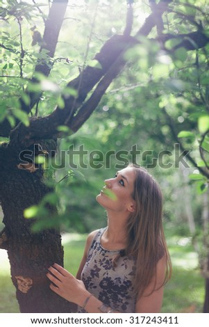 Beauty Portrait About a Real Woman in Nature