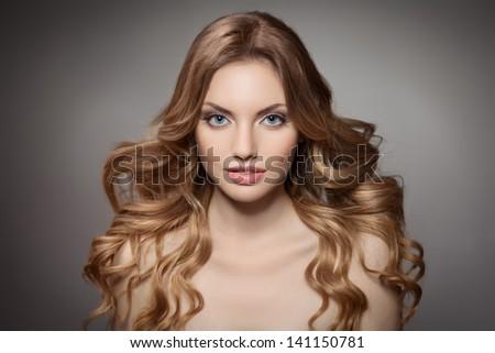 Beauty Portrait. Curly Long Hair #141150781