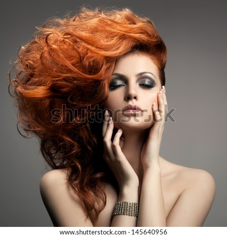 Shutterstock Beauty Portrait. Hairstyle