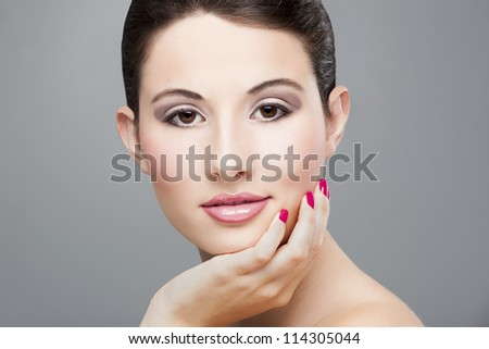 Beauty portrait of a beautiful young woman