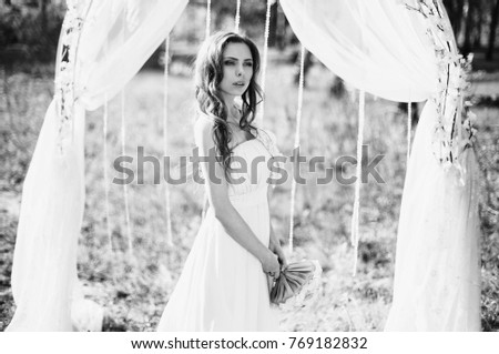 142415cadfa61 White roses on black background #646614553 · Beauty portrait of a very  pretty young girl. Doll appearance. Woman with brown hair