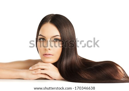 beauty portrait of a well-groomed young woman with beautiful hair