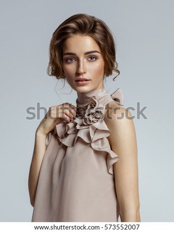 Shutterstock Beauty portrait of female face with natural skin