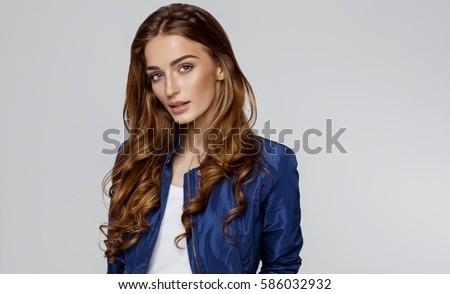 beauty portrait of female face...