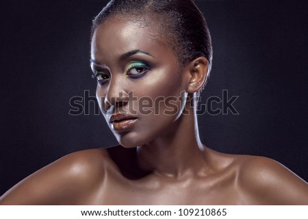 Beauty portrait of handsome ethnic african girl. Always more on my portfolio