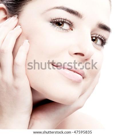 Beauty Portrait of woman - stock photo