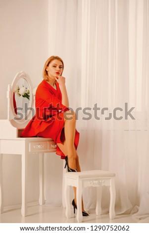 beauty salon for women. beauty of woman in salon. beauty salon concept. sexy woman in beauty salon