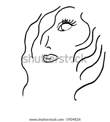 Beauty Salon or Cosmetics logo that I hand drew then smoothed the lines.