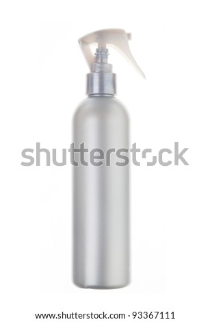 Beauty silver hairspray with dispenser