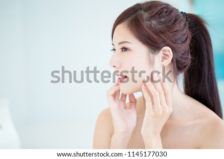 beauty skin care woman in the bathroom