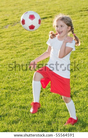 Beauty soccer player