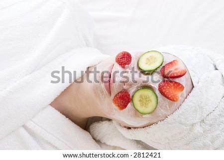 Beauty treatment at the health spa