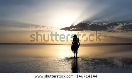 Beauty walking on water