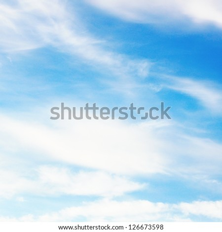 Beauty white and blue sky