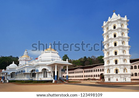Beauty white hindu temple, India