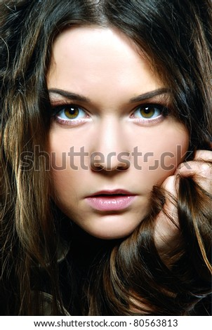 Beauty with perfect natural makeup look