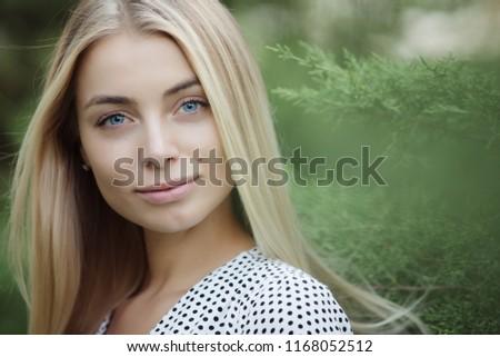 Beauty woman face blue eyes #1168052512